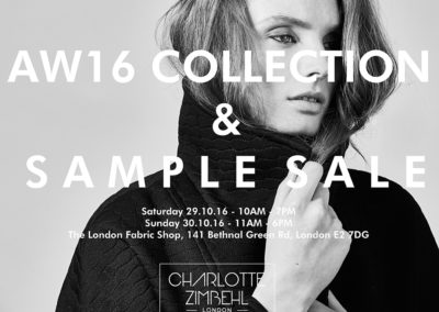 AW16 Collection & Sample Sale