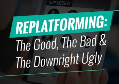 Replatforming Breakfast: The Good, the Bad and the Downright UGLY!